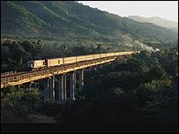 Tren en Cuba