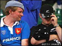 French fan and New Zealand fan