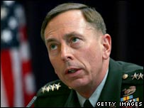 Gen David Petraeus giving evidence to the US Congress