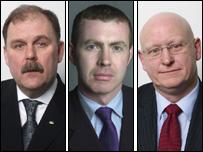 Plaid MPs Elfyn Llwyd, Adam Price and Hywel Williams