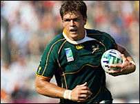 South African flanker Juan Smith