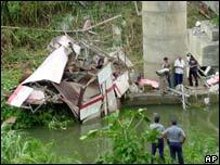 Accident site in Cuba