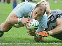 Gonzalo Longo scored Argentina's try