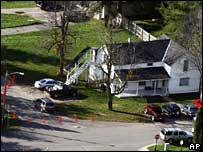 Site of shooting in Crandon, WI