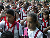 Primary school children in Cuba