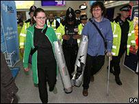 Protestors at Manchester Airport