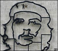 An image of Che Guevara in Revolution Square, Havana