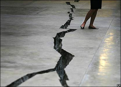 A crack in the floor is the latest commission at the Turbine Hall, Tate Modern in London