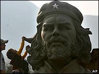 A monument to Che in La Higuera village, Bolivia