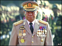 Senior General Than Shwe, file pic