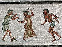 Dancers mosaic