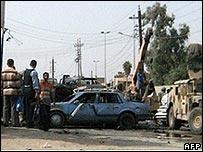 Aftermath of Baghdad car bombing