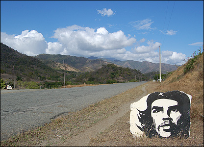 Che rock painting