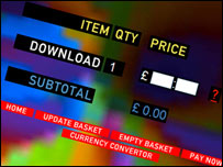 Screen grab from Radiohead website