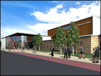 An artist's impression of the Aberfeldy campus