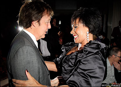 Sir Paul McCartney and Dame Shirley Bassey