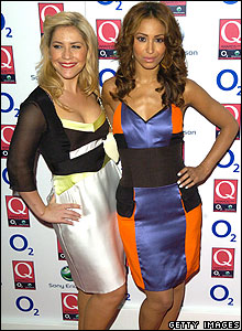 Heidi Range and Amelle Berrabah from the Sugababes