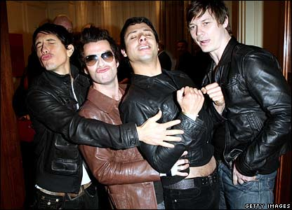 Kelly Jones (second left), Javier Weyler and Richard Jones (right) of the Stereophonics