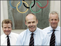 Lord Colin Moynihan, Sir Clive Woodward and Simon Clegg
