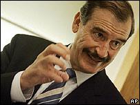 Vicente Fox en el programa Larry King Live el 8 de octubre