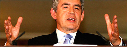 Gordon Brown at his monthly press conference on 8 October 2007