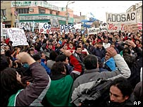 Political demonstration in Rio Gallegos