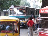 Blueline bus in Delhi (Photo: Geeta Pandey)