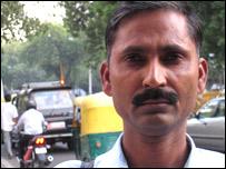 Commuter Dinesh Singh in Delhi (Photo: Geeta Pandey)