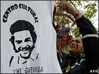 Che Guevara merchandise on sale in Vallegrande, Bolivia