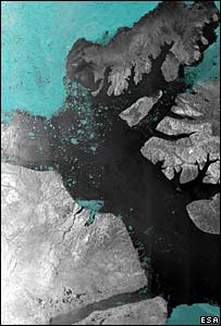 Satellite image of the Arctic (Esa)