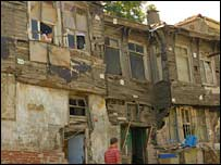Houses in the Roma settlement of Sulukule