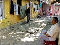 A street scene in Sulukule