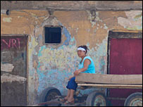 A woman in Sulukule