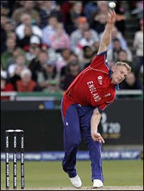 Andrew Flintoff in action for England