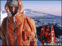 Pen Hadow, solo north pole expedition 2003 (Martin Hartley)