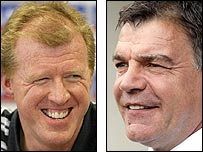 England boss Steve McClaren (left) and Newcastle manager Sam Allardyce