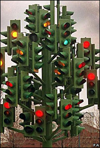 Traffic light sculpture, PA