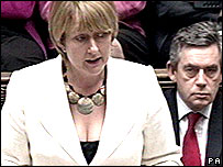 Jacqui Smith making a Commons statement on terror in the UK in July 2007.
