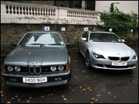 BMW M635i from 1986 (left) and the new BMW 635D