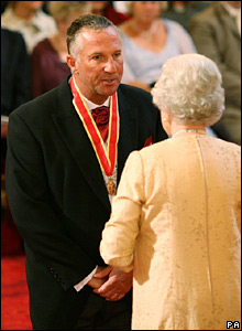 Former cricketer Ian Botham and the Queen
