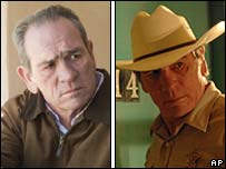 Tommy Lee Jones in In the Valley of Elah (l) and No Country for Old Men (r)