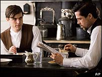 Casey Affleck and Brad Pitt in The Assassination of Jesse James by the Coward Robert Ford