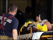 Herido es trasladado al hospital