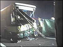 The crash scene on M1