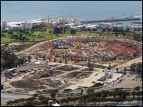 Cape Town's new stadium under construction