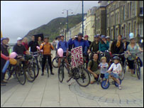 One of the monthly bike rides in Aberystwyth (picture: Grwp Beic)