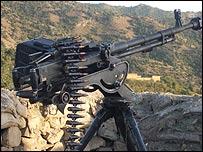Gun post belonging to pro-Taleban militants