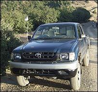 Captured army vehicle