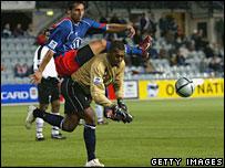 Fiji goalkeeper Simione Tamanisau