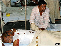 Victim of Ajmer blast being treated in hospital